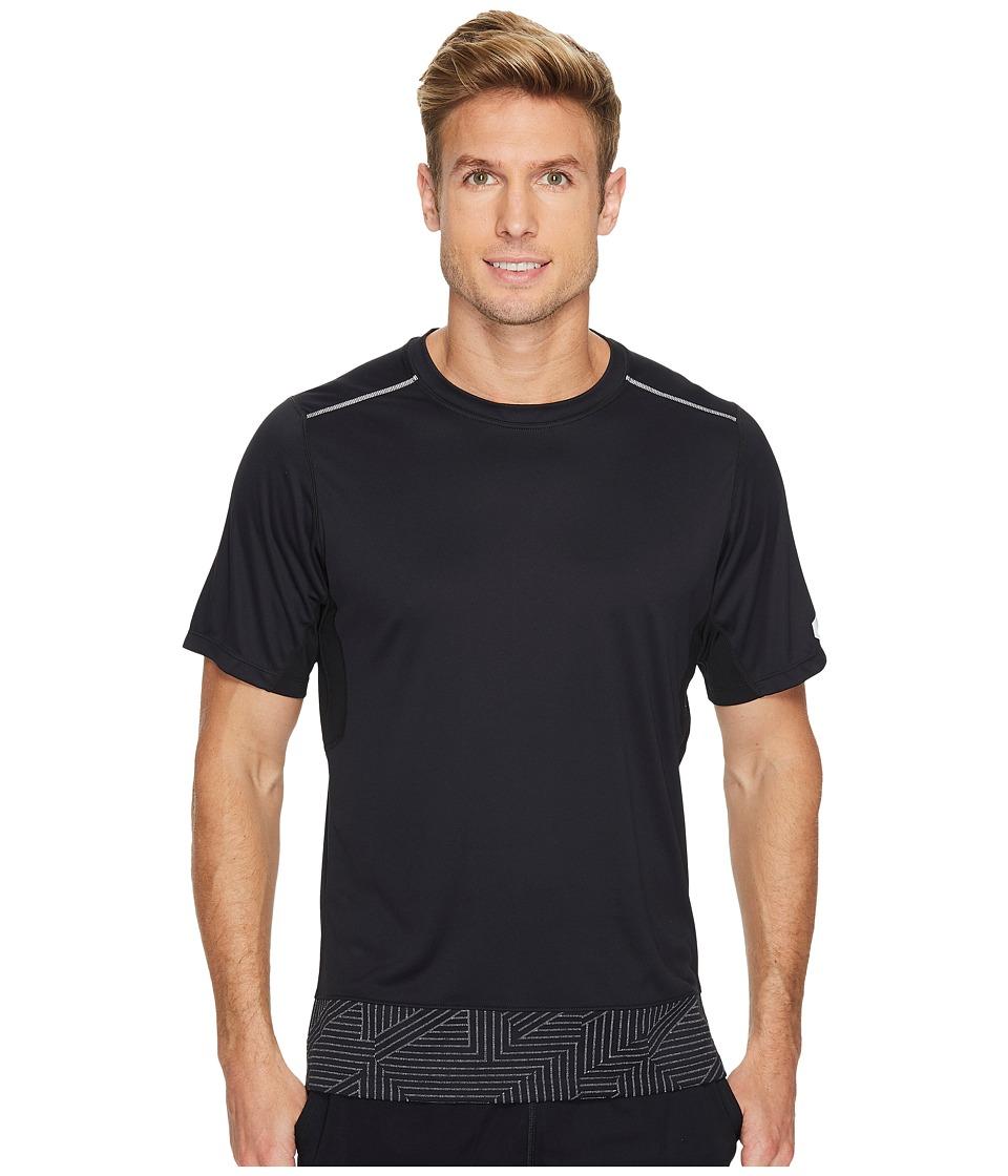 ASICS Lite-Show Short Sleeve Top (Performance Black/Spliced Stripe) Men