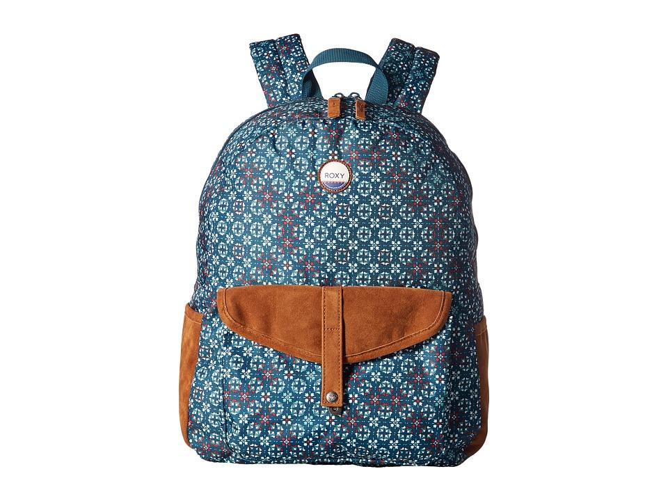Roxy Caribbean Backpack (Reflective Pond Liberia) Backpac...
