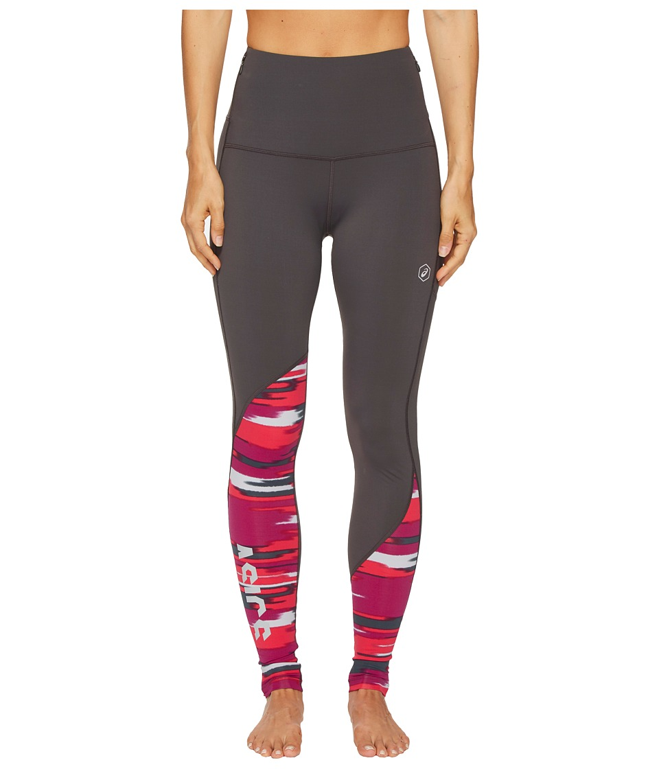 ASICS fuzeX High-Waisted Tights (Dark Grey/Impulse Cosmo Pink) Women