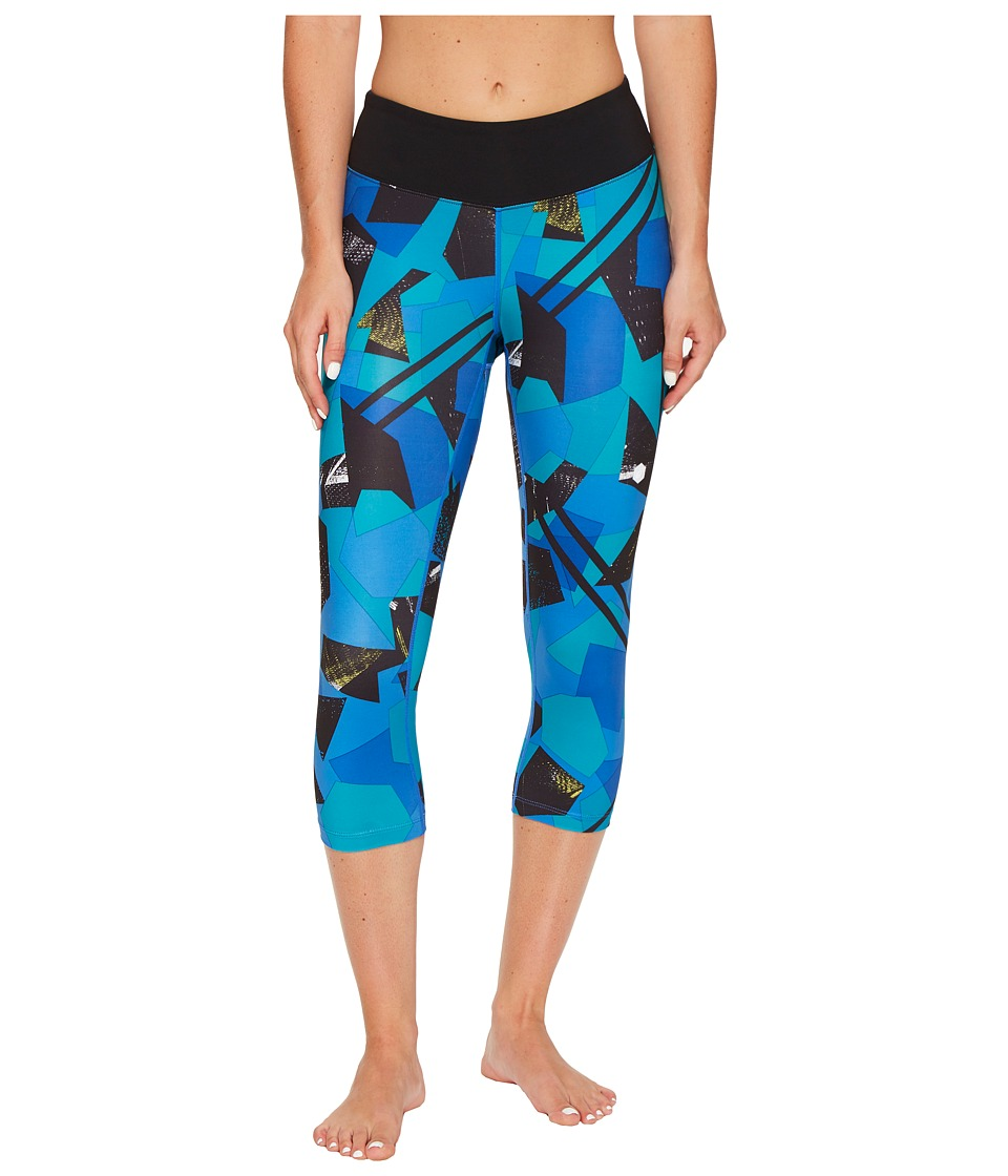 ASICS Interval Capris II (Regatta Blue Shape Collision) Women