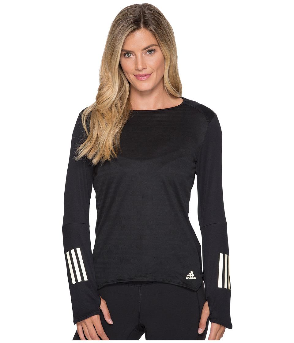 adidas - Response Long Sleeve Gold Tee (Black/Matte Gold) Women's Long Sleeve Pullover