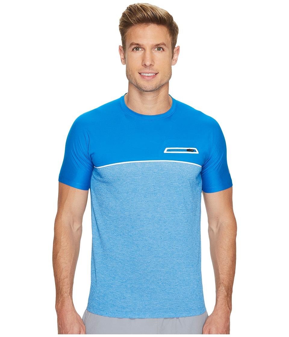 ASICS fuseX Short Sleeve Top (Directoire Blue) Men