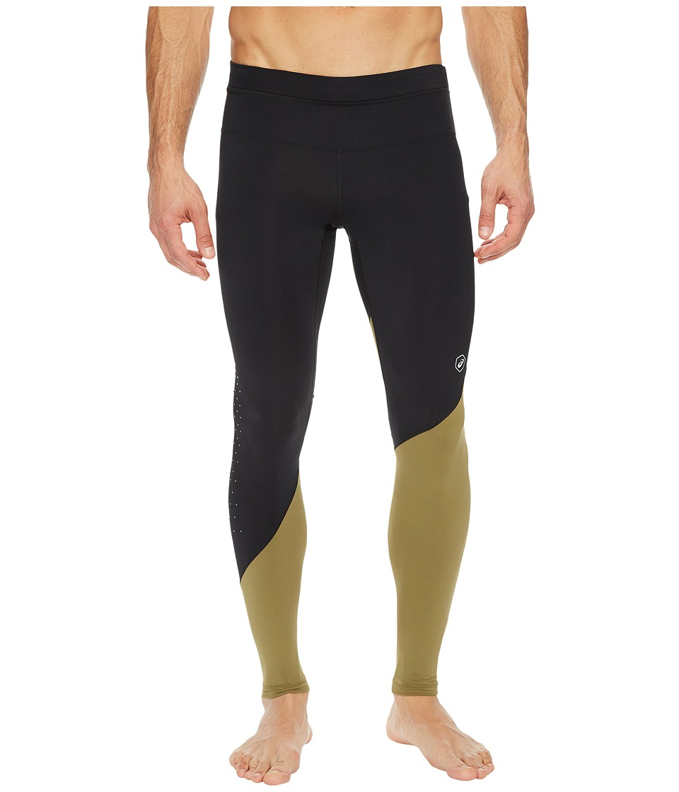 ASICS fuzeX Tights (Performance Black/Martini Olive) Men