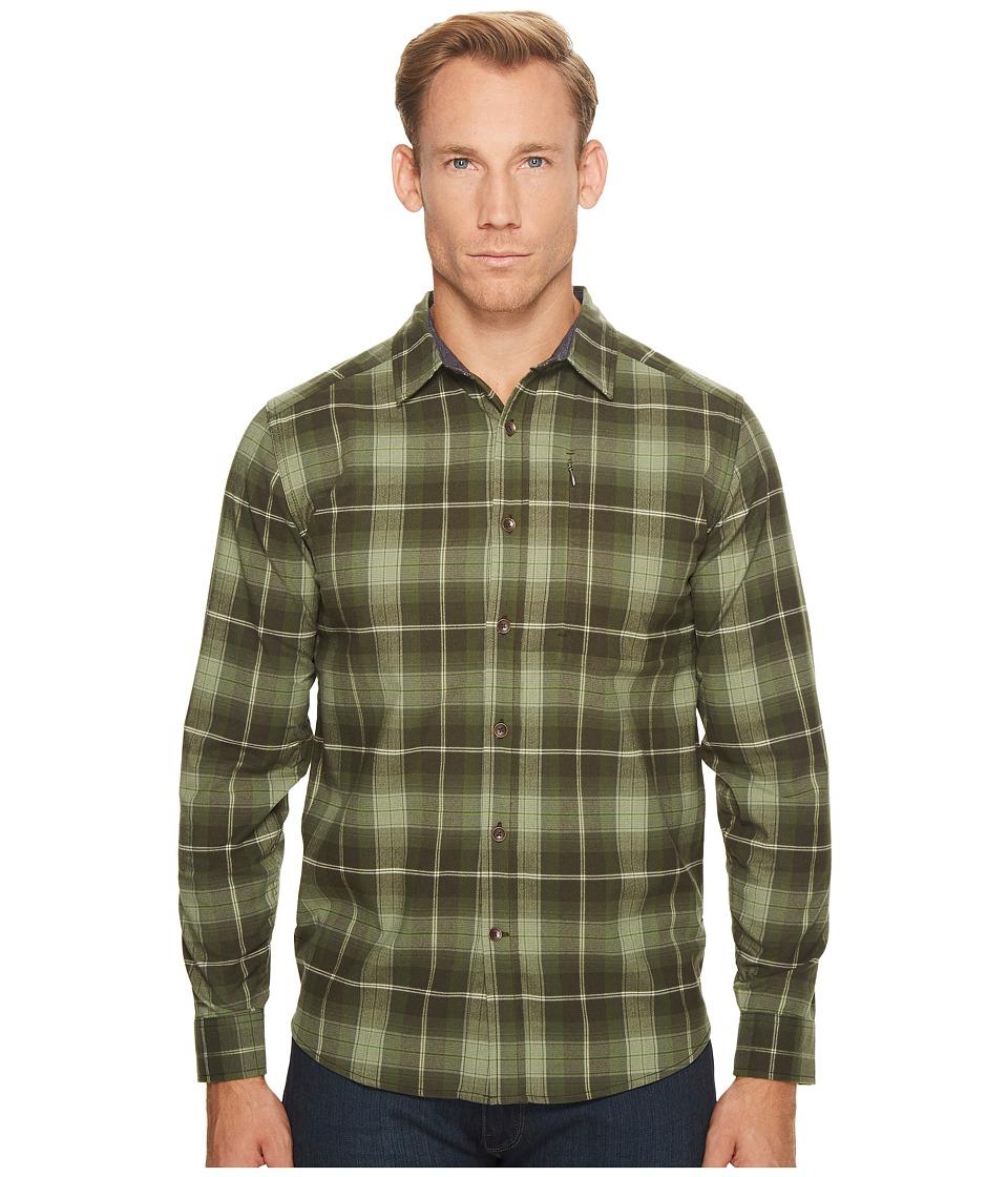 Royal Robbins Merinolux Flannel Long Sleeve Shirt (Bayleaf) Men
