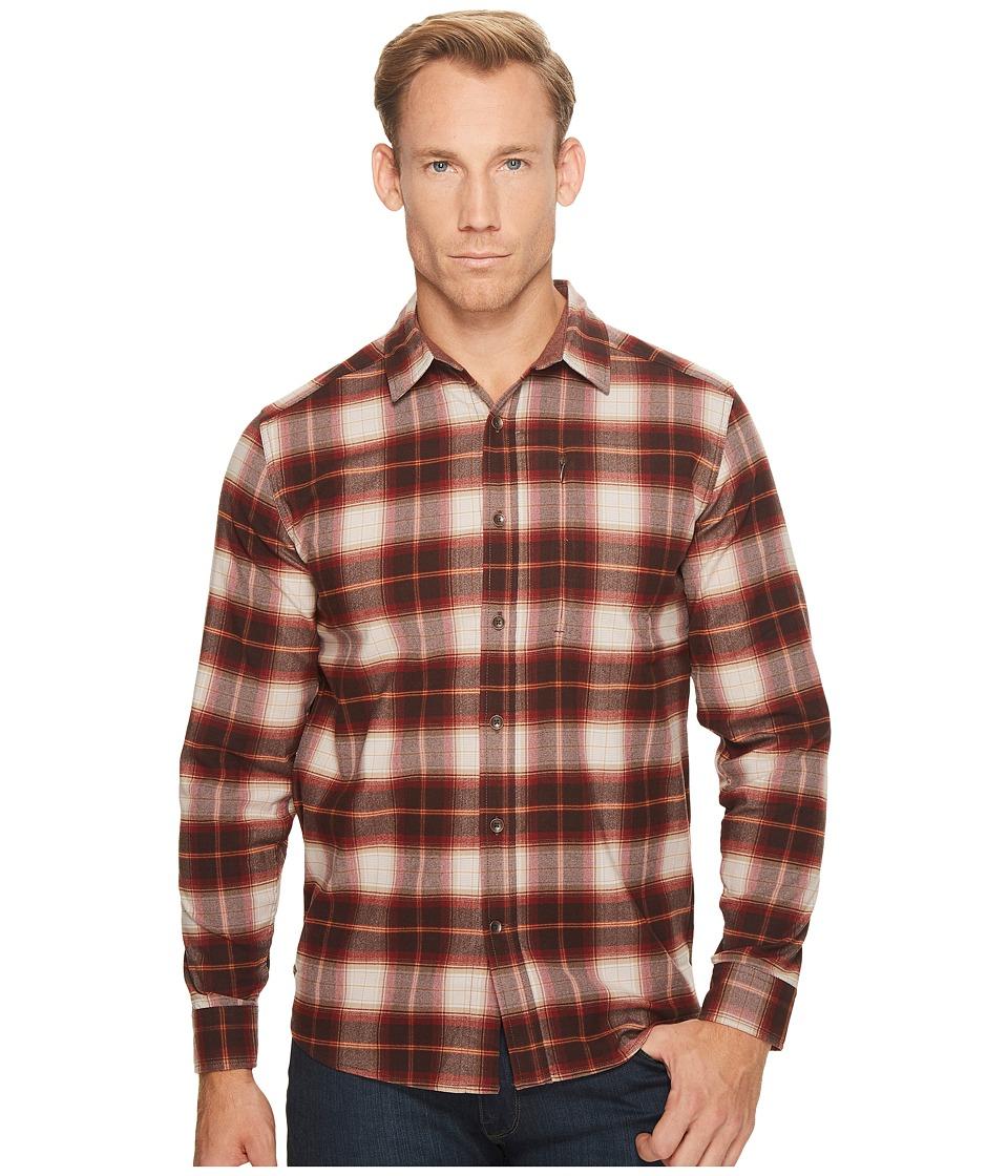 Royal Robbins Merinolux Flannel Long Sleeve Shirt (Red Rock) Men