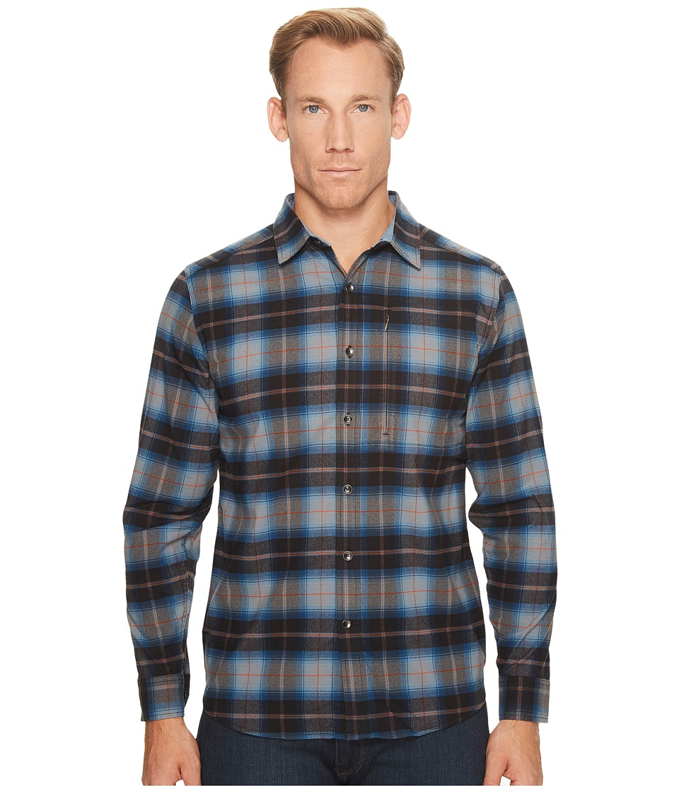 Royal Robbins Merinolux Flannel Long Sleeve Shirt (Navy) Men