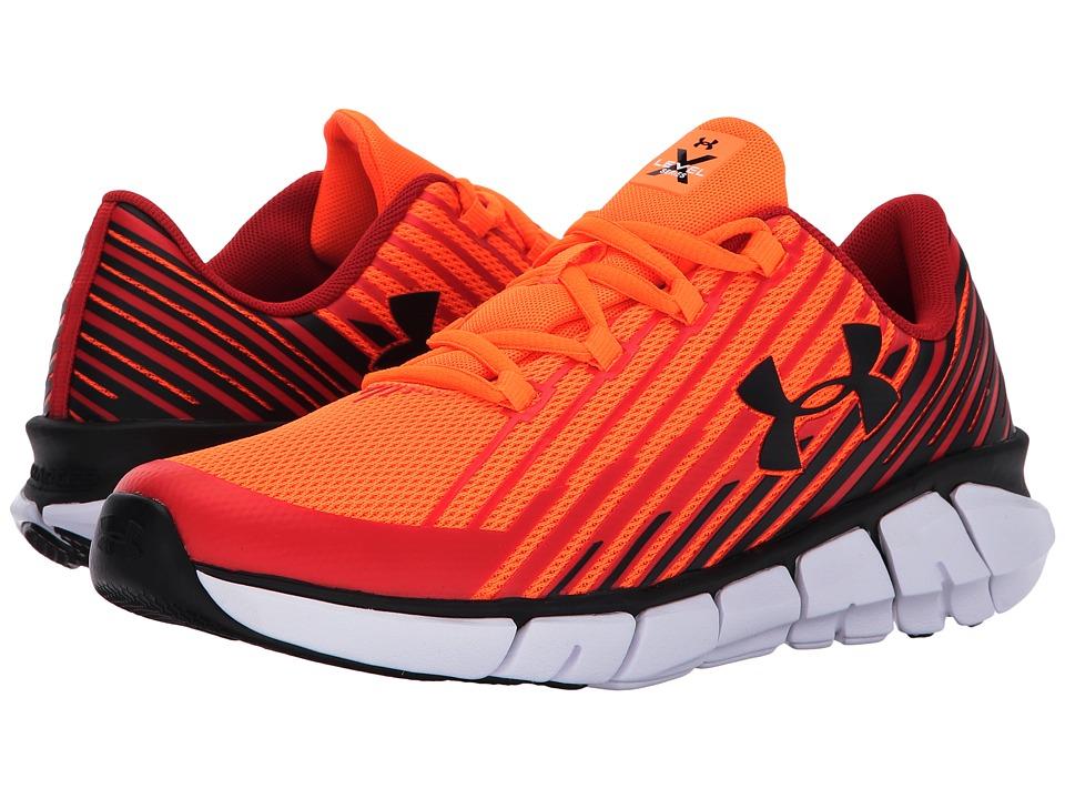 Under Armour Kids UA BGS X Level Scramjet 2.0 (Big Kid) (Blaze Orange/Red/Black) Boys Shoes