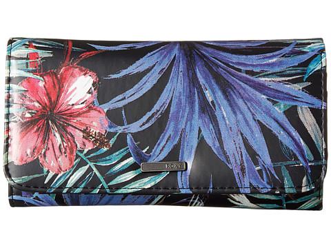 Roxy My Long Eyes Wallet - Anthracite Swim Belharra Flower