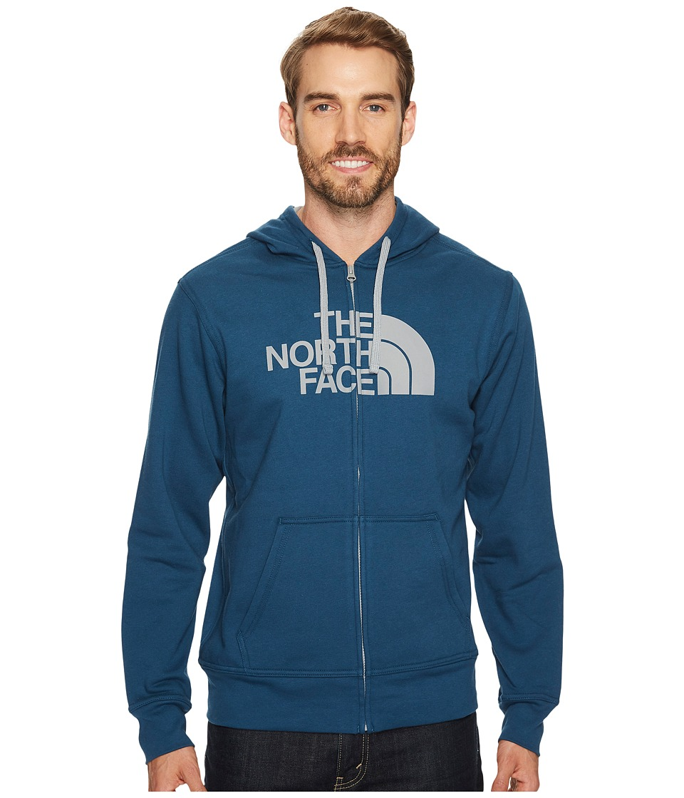 The North Face Half Dome Full Zip Hoodie (Monterey Blue/Monument Grey (Prior Season)) Men