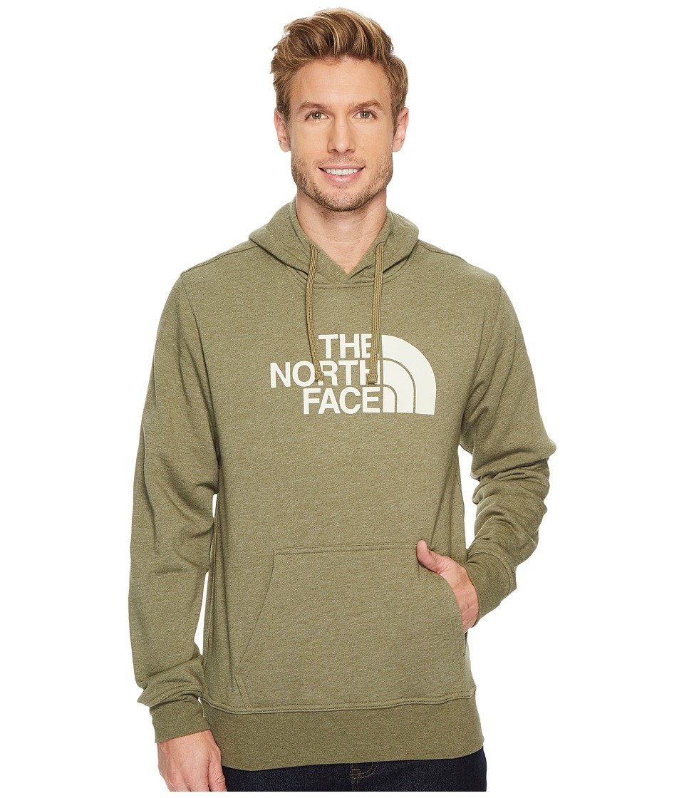The North Face Half Dome Hoodie (Burnt Olive Green Heather/Vintage White) Men