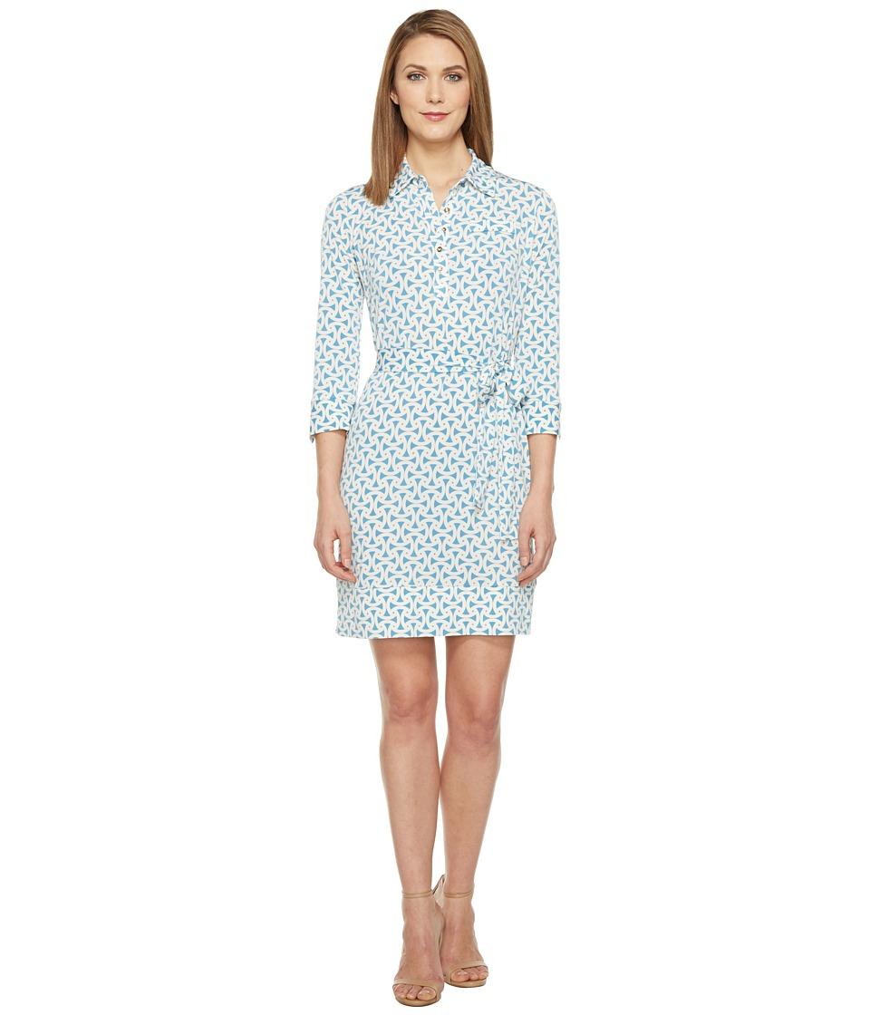 Donna Morgan 3/4 Sleeve Jersey Shirtdress (Star/Ivory) Women