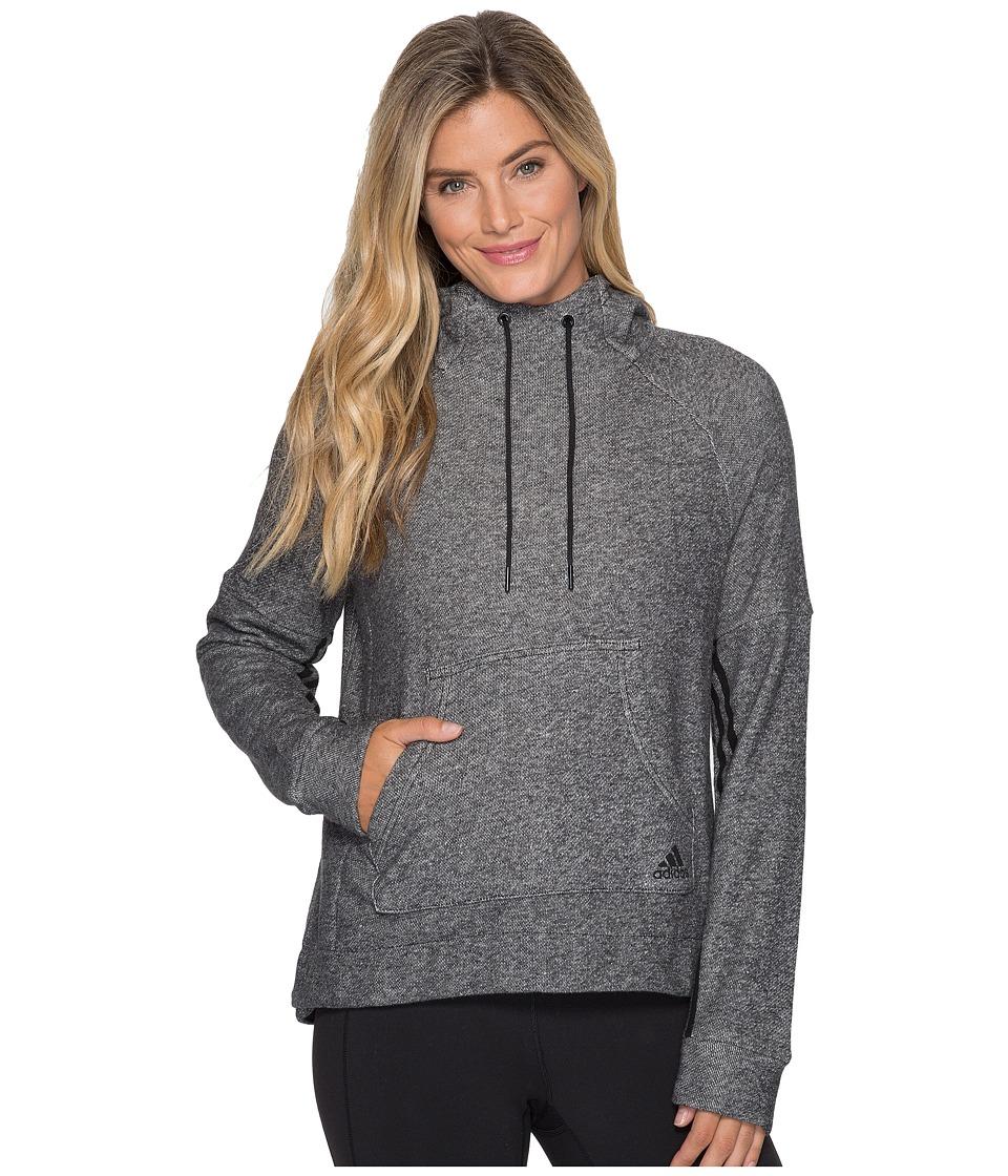 adidas - Sport2Street Pullover Hoodie (Black Melange) Women's Sweatshirt