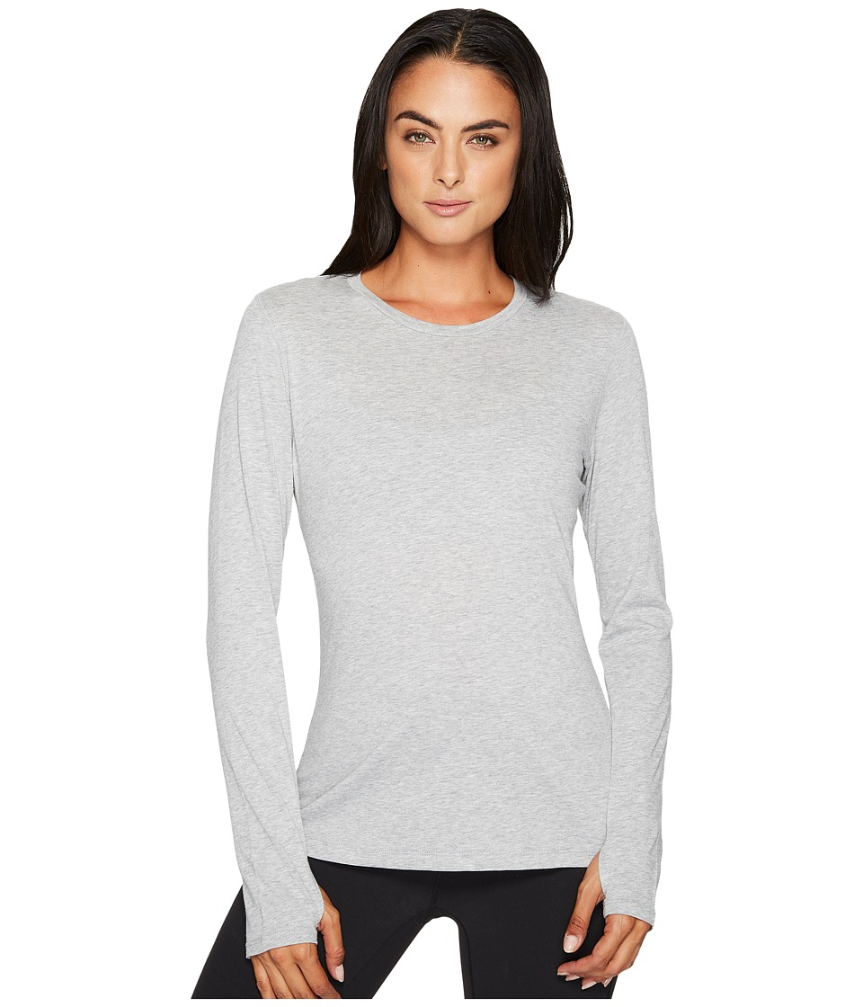 New Balance Heather Tech Long Sleeve Top (Athletic Grey) Women