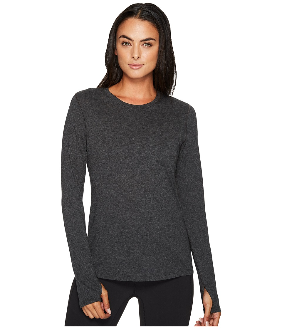 New Balance Heather Tech Long Sleeve Top (Black Heather) Women