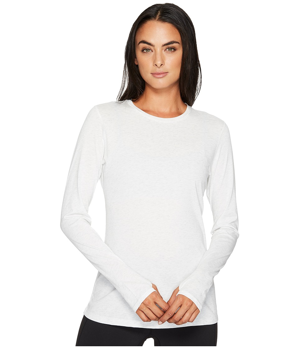 New Balance Heather Tech Long Sleeve Top (Sea Salt Heather) Women