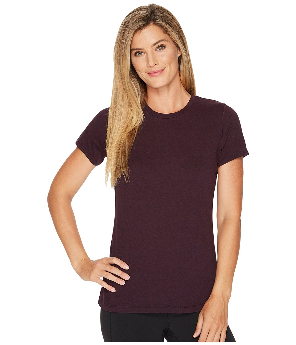 New Balance Heather Tech Tee (Black Rose Heather) Women
