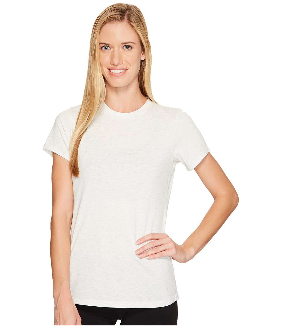New Balance Heather Tech Tee (Sea Salt Heather) Women