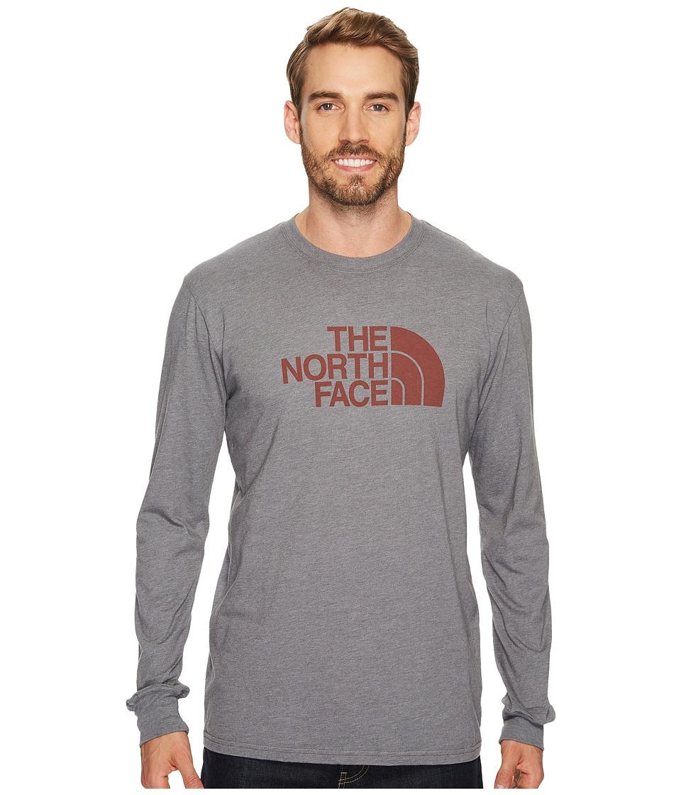 The North Face Long Sleeve Half Dome Tee (TNF Medium Grey Heather/Brandy Brown (Prior Season)) Men