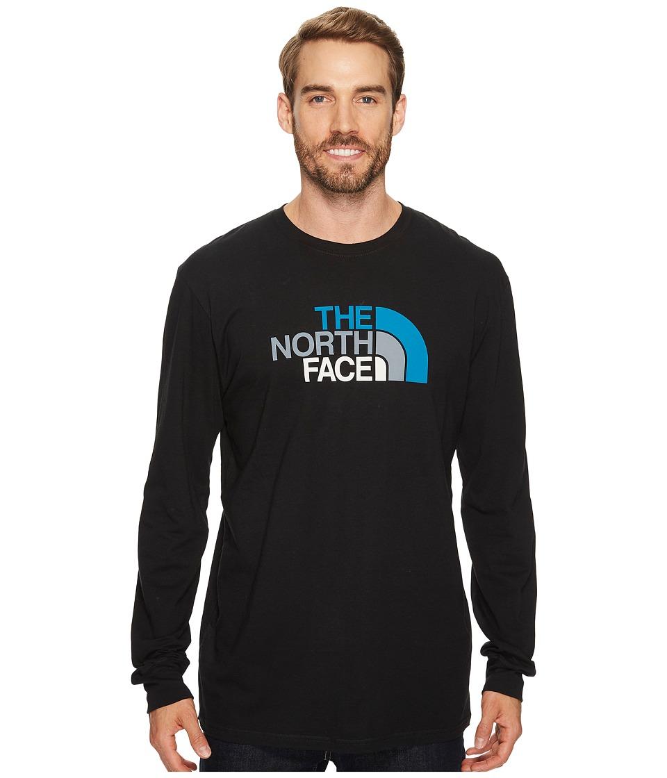The North Face Long Sleeve Half Dome Tee (TNF Black/Brilliant Blue Multi (Prior Season)) Men
