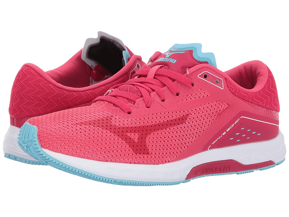 Mizuno Wave Sonic (Paradise Pink/Virtual Pink/Blue Topaz) Women's Running Shoes
