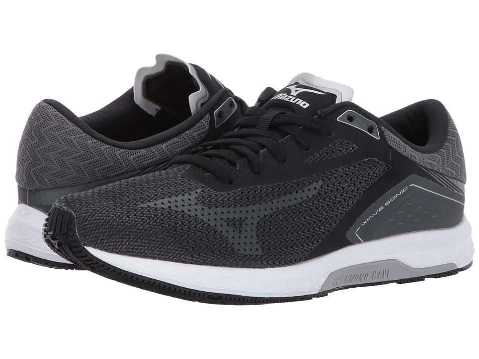 Mizuno Wave Sonic (Black/Iron Gate/Silver) Women's Running Shoes