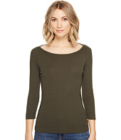 Three Dots - Essential British Neck 3/4 Sleeve Top
