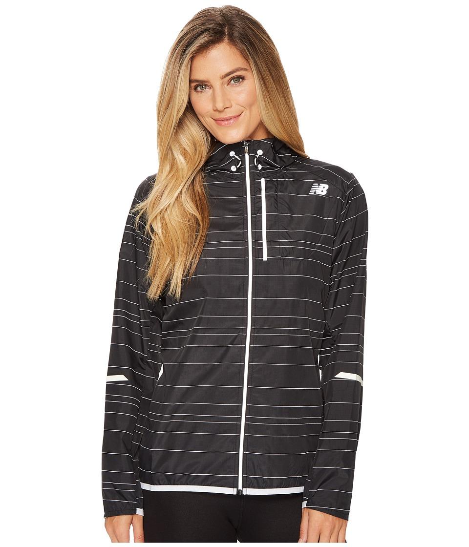 New Balance Reflective Lite Packable Jacket (Black) Women