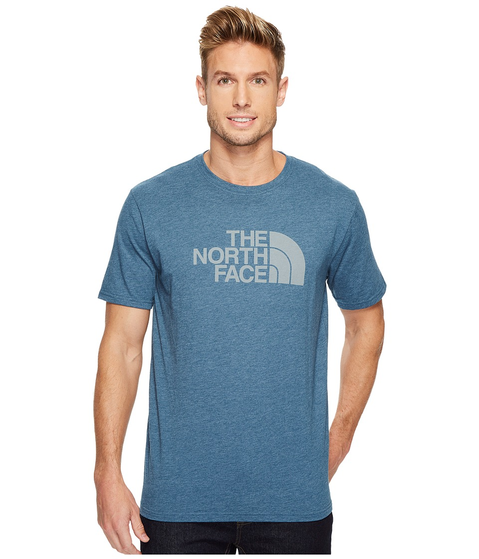 The North Face Short Sleeve 1/2 Dome Tee (Monterey Blue Heather/Monument Grey) Men