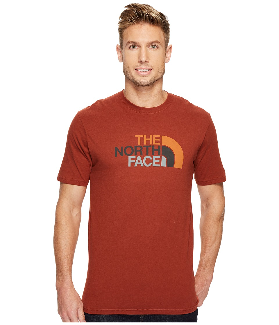 The North Face Short Sleeve 1/2 Dome Tee (Brandy Brown/Autumnal Orange Multi) Men
