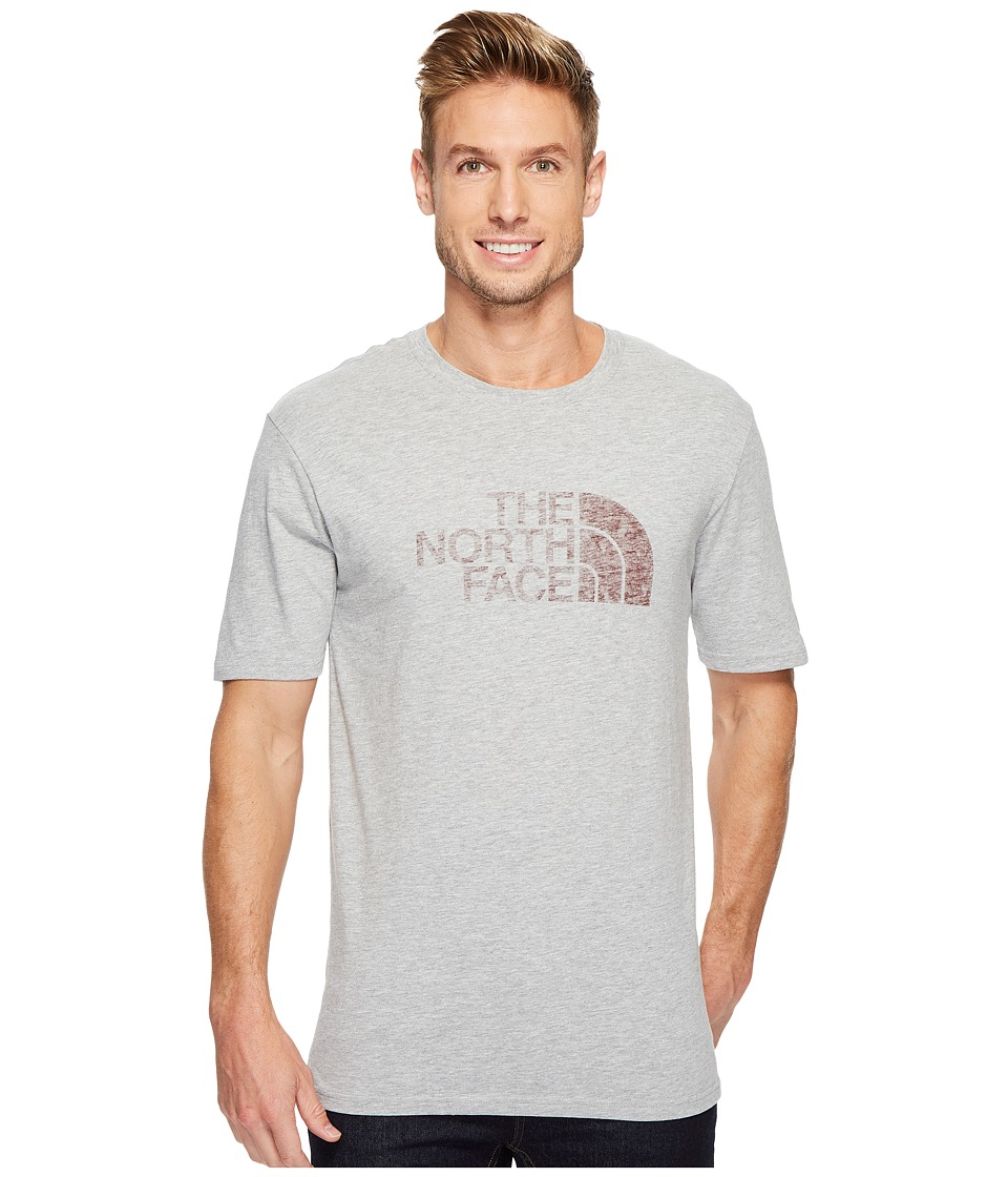 The North Face Short Sleeve 1/2 Dome Tee (TNF Light Grey Heather/Sequoia Red) Men