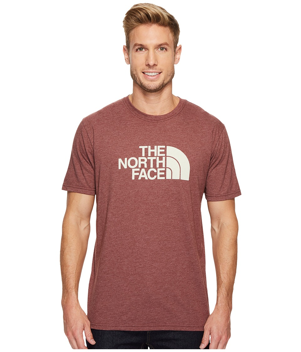 The North Face Short Sleeve 1/2 Dome Tee (Sequoia Red Heather/Vintage White) Men