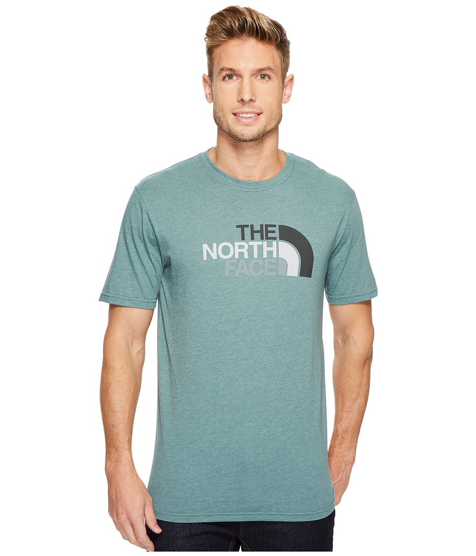The North Face Short Sleeve Half Dome Tee (Silver Pine Green Heather/Asphalt Grey Multi) Men