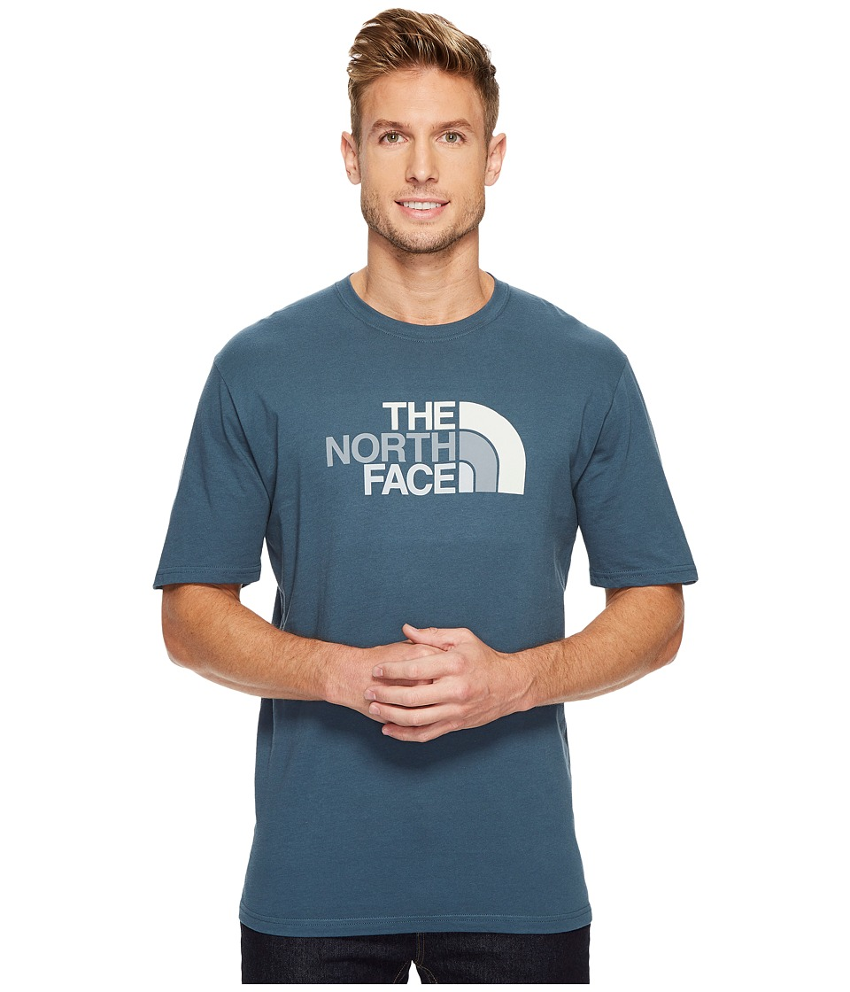 The North Face Short Sleeve 1/2 Dome Tee (Conquer Blue/Vintage White Multi) Men