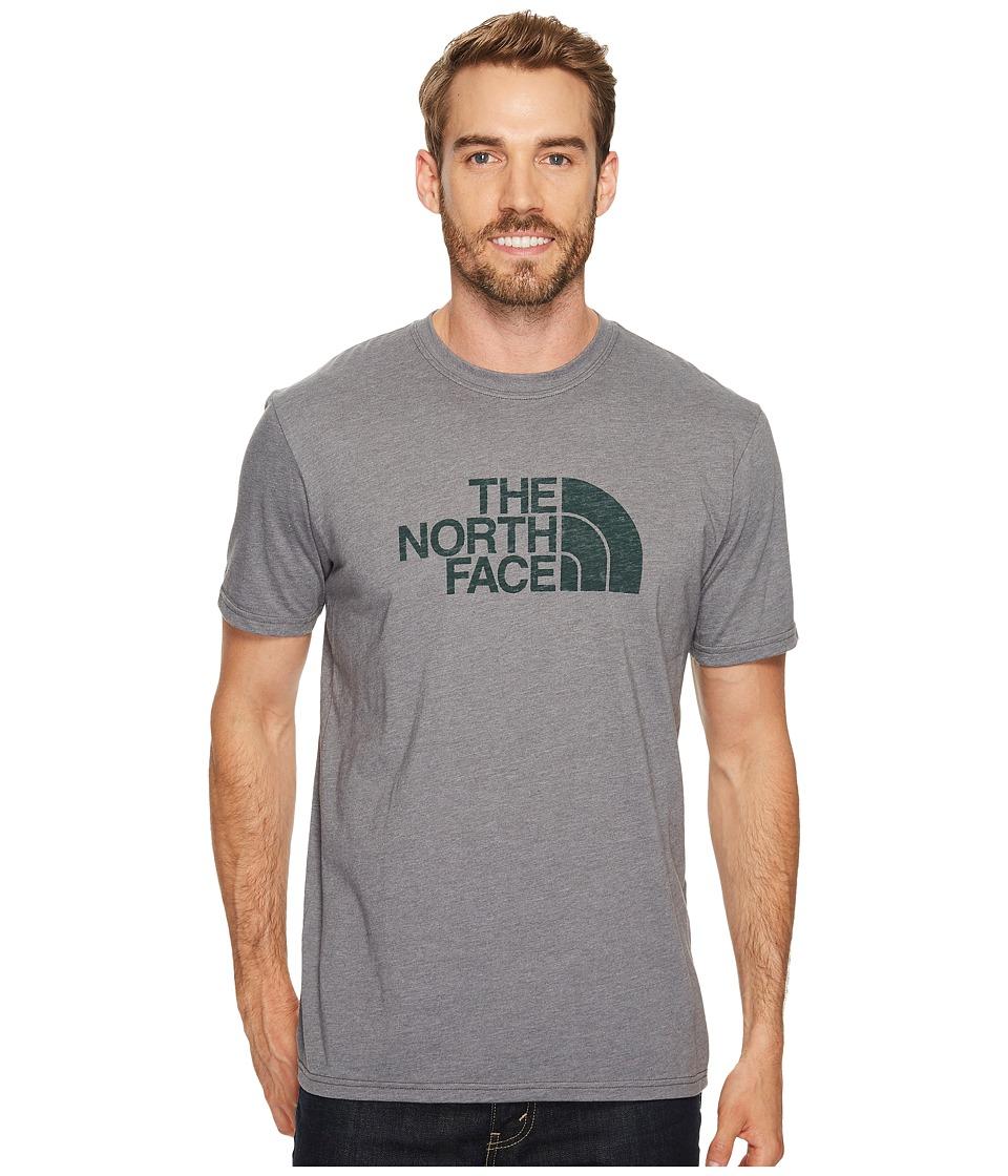 The North Face Short Sleeve 1/2 Dome Tee (TNF Medium Grey Heather/Darkest Spruce (Prior Season)) Men