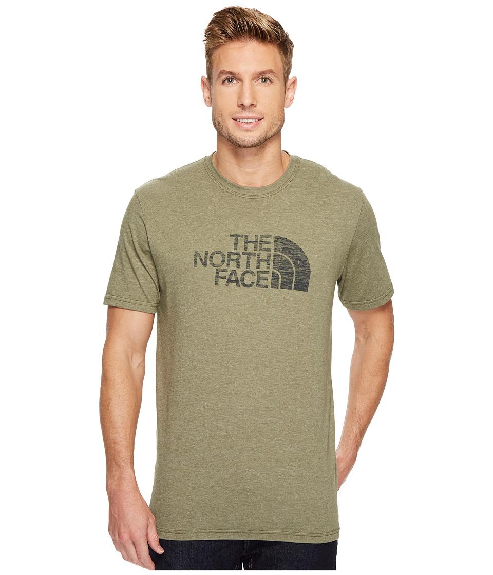 The North Face Short Sleeve 1/2 Dome Tee (Burnt Olive Green Heather/Asphalt Grey 1) Men