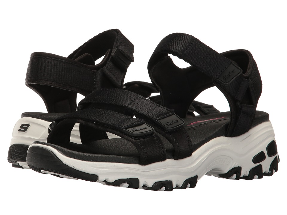 Skechers D'Lites - Fresh Catch (Black) Women's Sandals