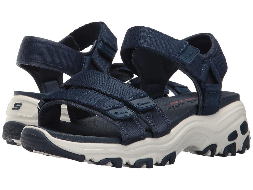Skechers D'Lites - Fresh Catch (Navy) Women's Sandals