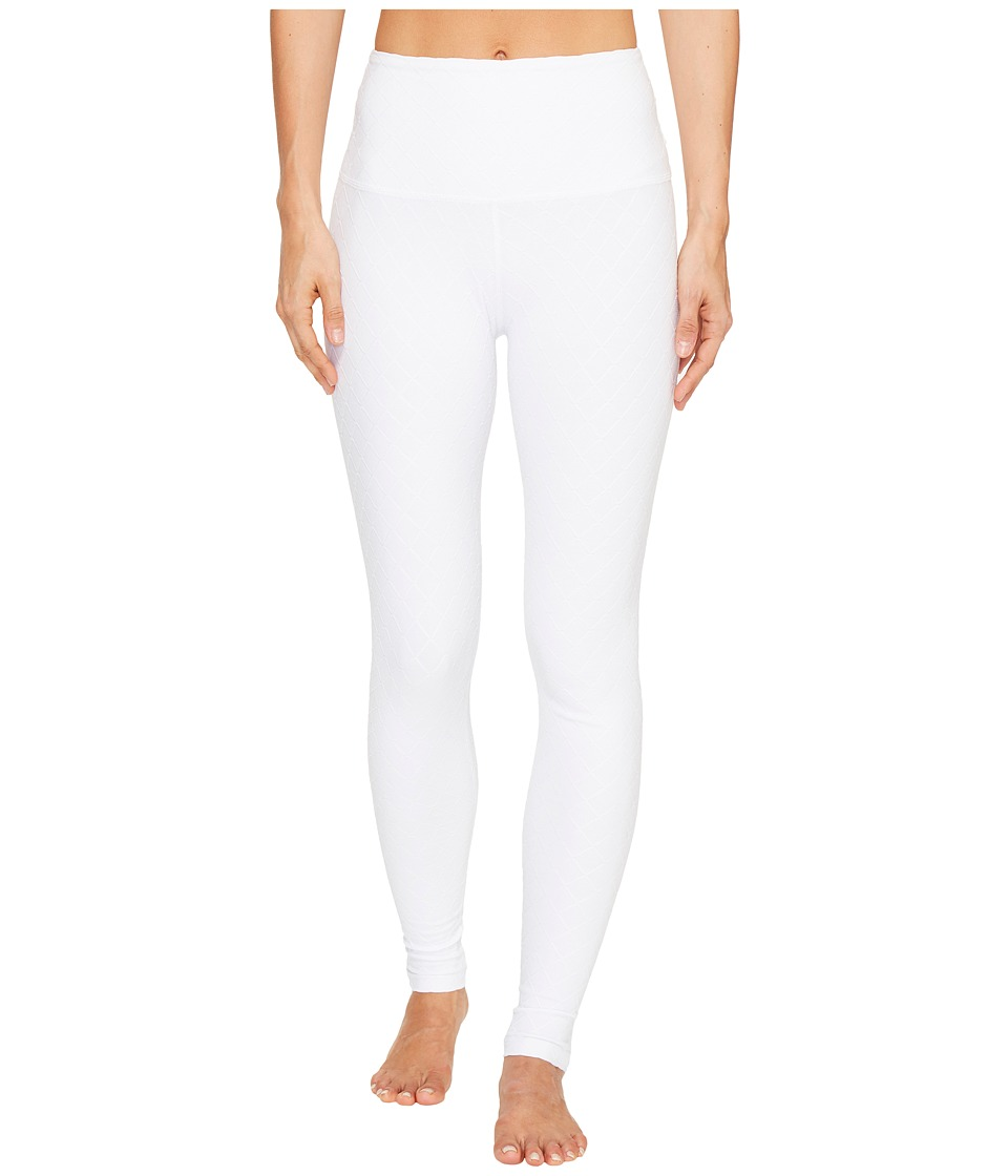Image of Beyond Yoga - Can't Quilt You High Waisted Leggings (White) Women's Casual Pants