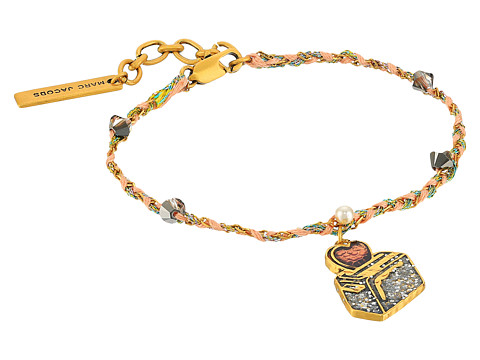Marc Jacobs Charms Wonderland Toast My Heart Friendship Bracelet - Yellow Multi