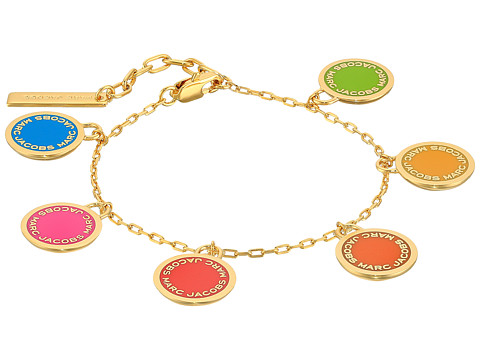 Marc Jacobs Logo Disc Rainbow Statement Bracelet - Rainbow