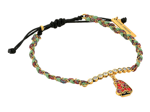 Marc Jacobs Charms Wonderland Mushroom Friendship Bracelet - Red Multi