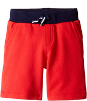 Lacoste Kids - Small Elastic Waist Shorts (Toddler/Little Kids/Big Kids)