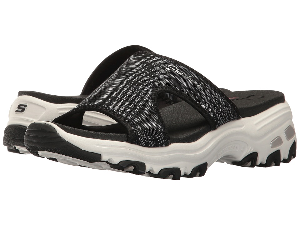Skechers D'Lites - Cool Footings (Black) Women's Sandals