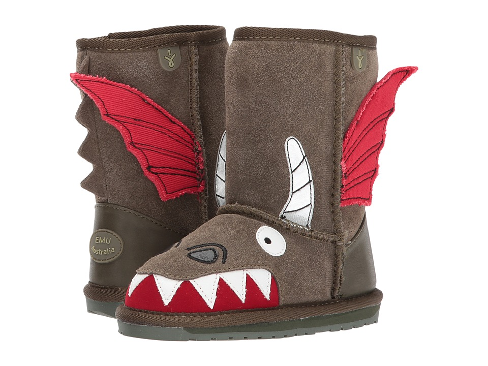 EMU Australia Kids - Little Creatures Dragon (Toddler/Little Kid/Big Kid) (Khaki) Boys Shoes