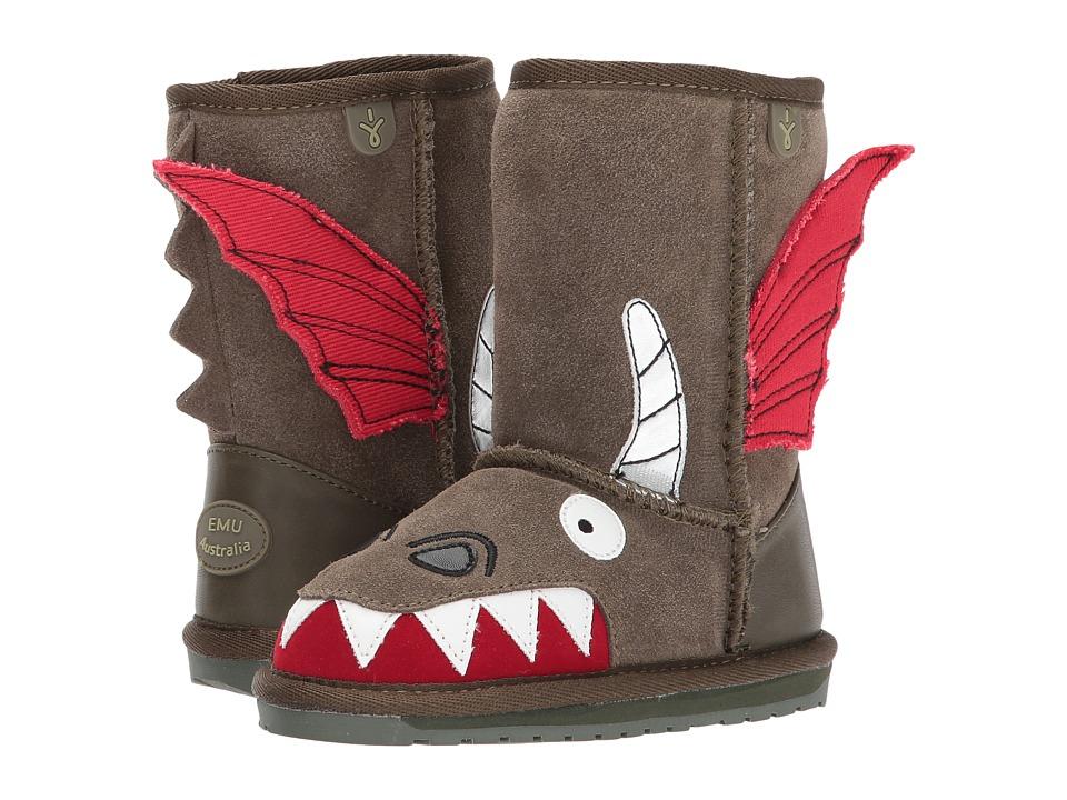 EMU Australia Kids Little Creatures Dragon (Toddler/Little Kid/Big Kid) (Khaki) Boys Shoes