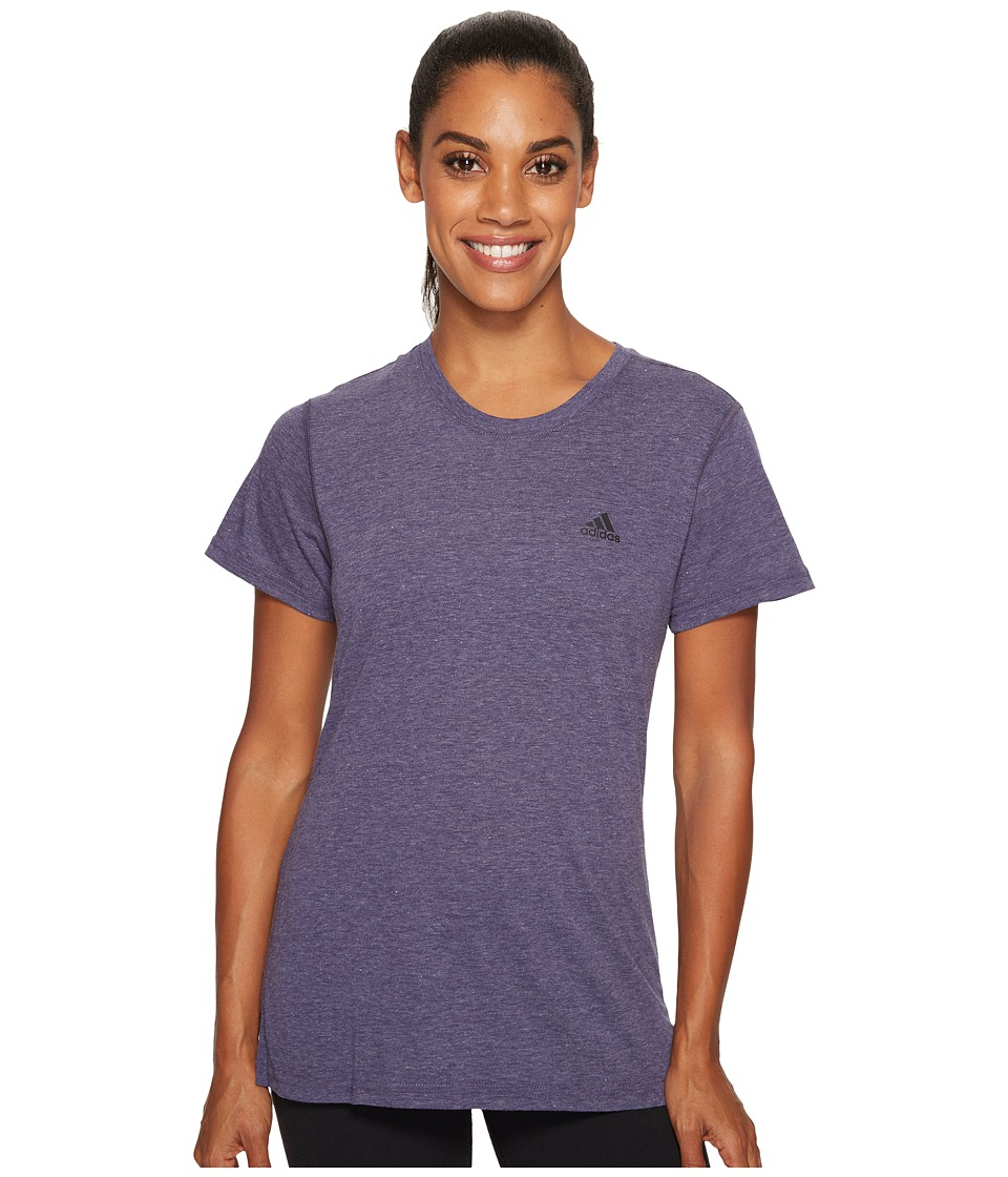 adidas Ultimate Short Sleeve Tee (Noble Ink/Black) Women