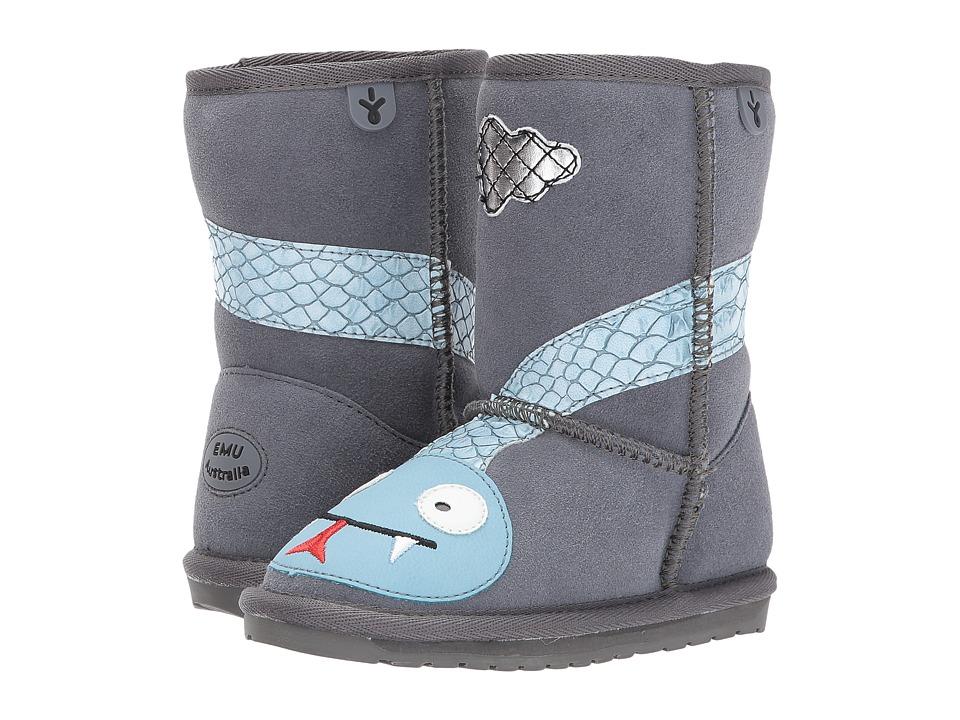 EMU Australia Kids Little Creatures Rattlesnake (Toddler/Little Kid/Big Kid) (Charcoal) Kids Shoes
