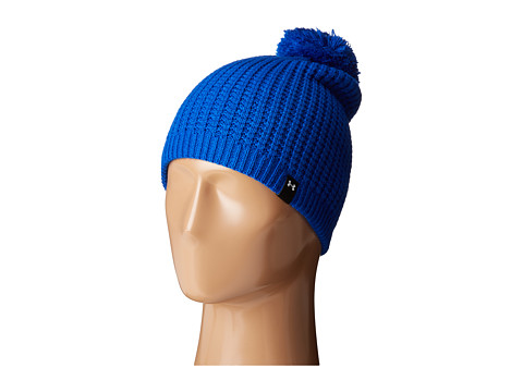 Under Armour Favorite Waffle Pom Beanie - Lapis Blue/White/Black