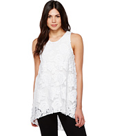 Vince Camuto - Sleeveless High-Low Hem Floral Mesh Blouse