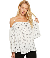 Vince Camuto - Long Sleeve Fluent Flowers Cold-Shoulder Blouse